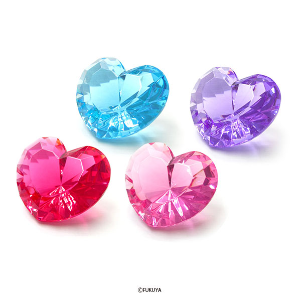 ACRYLIC DIAMOND CUT HEART MEGA BIG