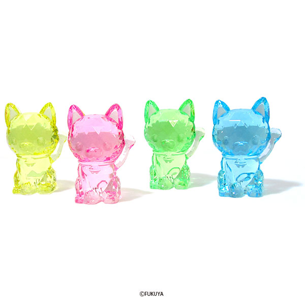 ACRYLIC DIAMOND CUT LUCKY CAT BIG