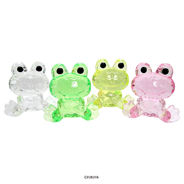 ACRYLIC DIAMOND CUT FROG BIG  (without painting)