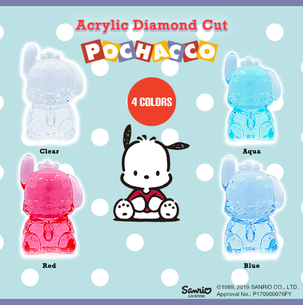 ACRYLIC DIAMOND CUT POCHACCO BIG